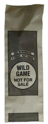 Wild Game Poly Bag will hold 2 lbs. of meat.  Click on the picture to enlarge.