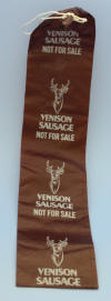 Venison Sausage Casing Pre-Printed Mahogany Color - Click On The Photo To Enlarge