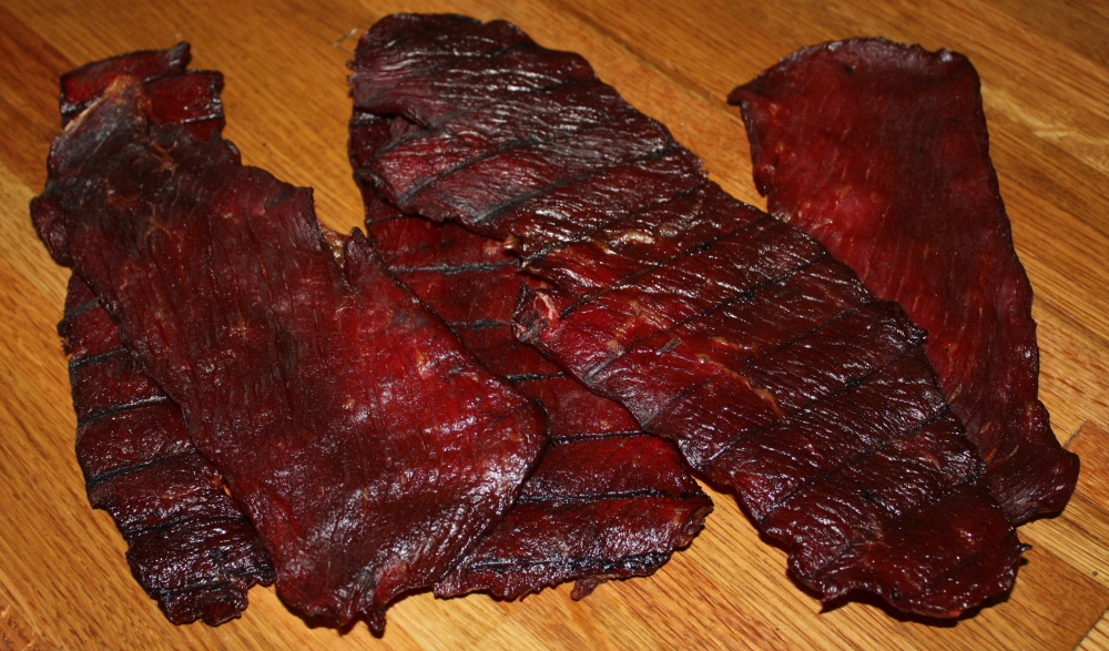 Here is the finished beef jerky. Delicious and ready to eat! Click on ...