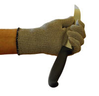 Cut Resistant Glove Holding Forschner 8 Inch Breaking Knife