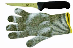 Victorinox 5 Inch Boning Knife and Ansell Cut Resistant Glove
