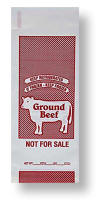 Ground Beef Poly Freezer Bag - 1 lb. Size