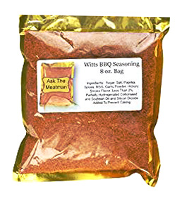 Witts BBQ Seasoning and Rub in 8 oz. Bag